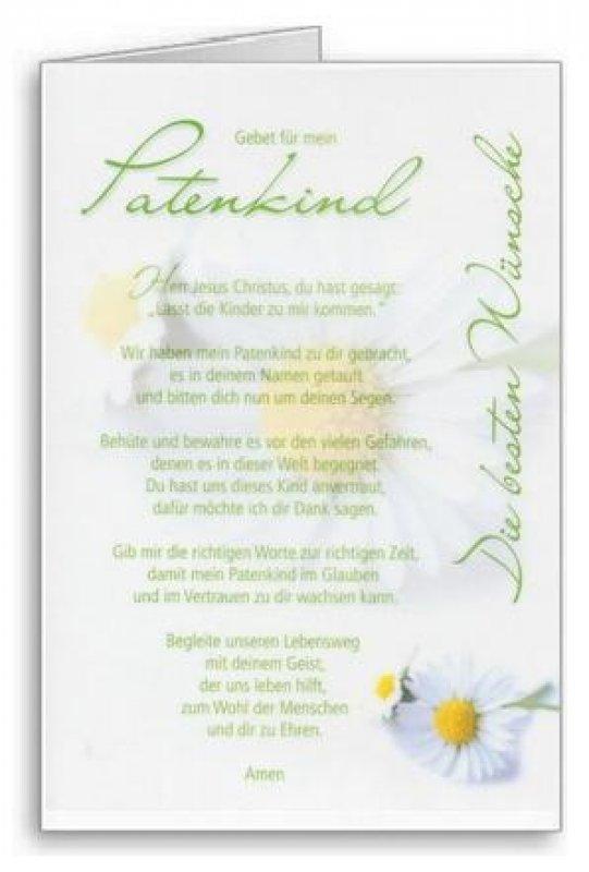 3er Päckchen Faltkarten - Gebet für mein Patenkind