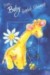 3er Päckchen Faltkarten - Zum Baby herzliche Glückwünsche
