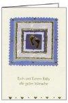 3er Päckchen Faltkarten - Euch und Eurem Baby alle guten Wünsche