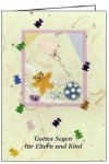 3er Päckchen Faltkarten - Gottes Segen für Eltern und Kind