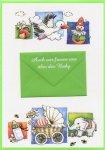3er Päckchen Faltkarten - Auch wir freuen uns über das Baby
