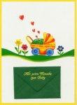 3er Päckchen Faltkarten - Alle guten Wünsche zum Baby