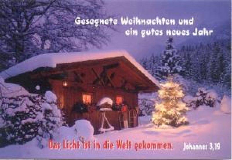 Kleinkartenserie [24 Stück] Gesegnete Weihnachten und ein gutes ...