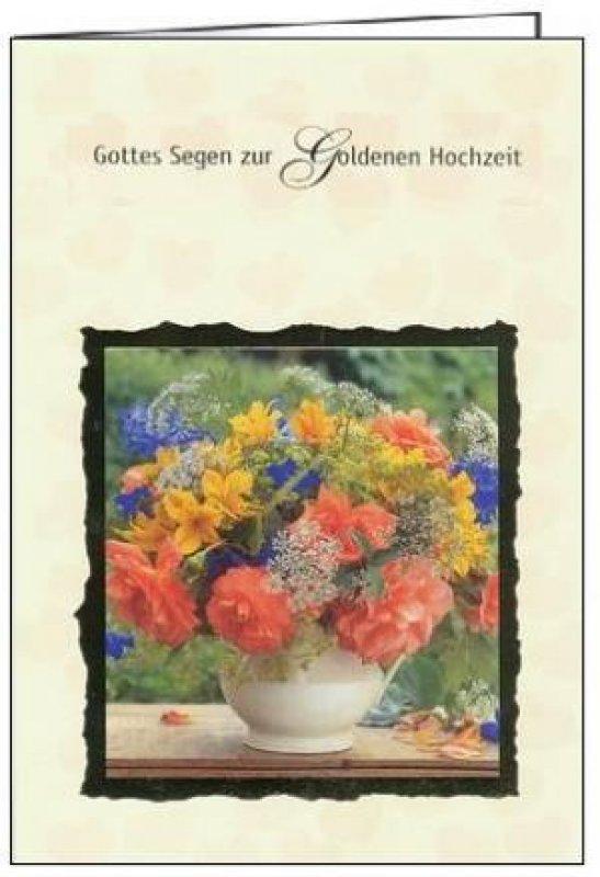 3er Päckchen Faltkarten Gottes Segen Zur Goldenen Hochzeit