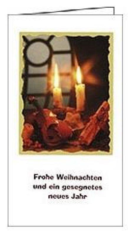 5er Päckchen Faltkarten - Frohe Weihnachten und ein gesegnetes neues ...