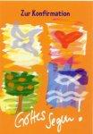 3er Päckchen Faltkarten - Zur Konfirmation Gottes Segen